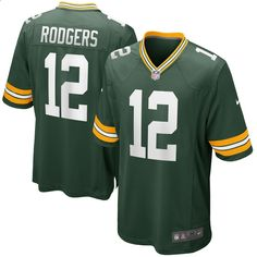 Here you can purchase your choice of a Aaron Rodgers Green Bay Packers (Home - Green/White or Away - White/Yellow) jersey. Go Pack Go! Packers Gear, Packers Football, Football Memes, Sports Memes, Nhl, Rodgers Green Bay, Green Bay Packers Jerseys, Jersey Nike, Nfl Gear