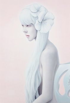 Kwon Kyungyup - Korean artist Kwon Kyungyup is known for his pale, unreal portraits of imaginary women.