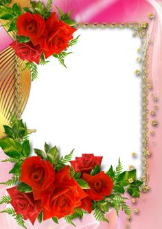 Flowery Wallpaper, Framed Wallpaper, Rose Frame, Flower Frame, Picture Borders, Family Photo Frames, Beautiful Love Pictures, Invitation Background, Cute Frames
