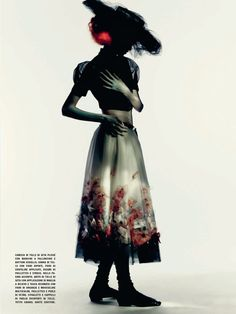 Molly Blair by Paolo Roversi for Vogue-Italia March 2015 - CHANEL Spring 2015 Haute Couture