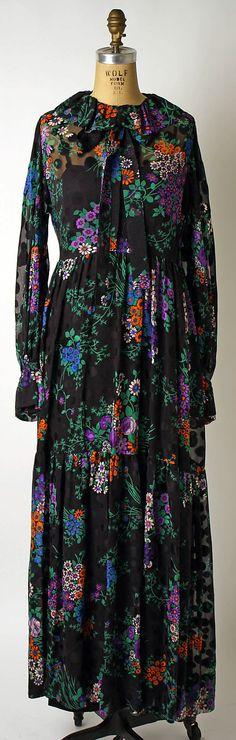 Evening dress | Yves Saint Laurent, Paris (French, founded 1961) | Designer: Yves Saint Laurent (French (born Algeria) Oran 1936–2008 Paris) | Date: 1974 | Culture: French
