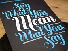 Jessica Hische's Buttermilk font in use. Lovely colors! #fonts #typography