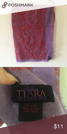 Wool Scarf Excellent condition. No pulls, holes, discoloration or any other signs of wear. 100% wool. Same day shipping on all orders! Tiara Accessories Accessories Scarves & Wraps