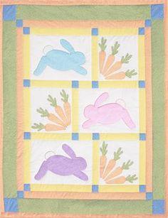 NEI-912-color bunny quilt.