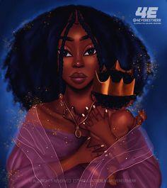 Mother Art Print by foreverestherr Black Love Art, Black Girl Art, Black Is Beautiful, Black Girl Magic, Art Girl, Black Art Painting, Black Artwork, Drawings Of Black Girls, Black Girl Cartoon