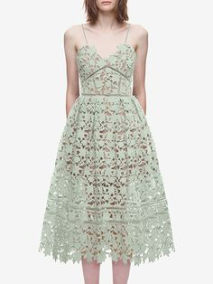 #AdoreWe #JustFashionNow Casual Dresses❤️Designer TEST Light Green Sweetheart Lace Casual Dress - AdoreWe.com