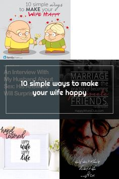 10 simple ways to make your wife happy Happy Wife Quotes, Simple Way, Marriage, Make It Yourself, Valentines Day Weddings, Weddings, Mariage, Wedding, Casamento