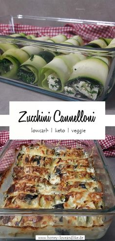 Zucchini rolls again! This time veggie with spinach & feta - Zucchini canneloni. - Zucchini rolls again! This time veggie with spinach & feta – Zucchini canneloni – - Spinach And Feta, Queso, Easy Dinner Recipes, Pasta Recipes, Salad Recipes, Easy Meals, Rolls, Low Carb, Veggies