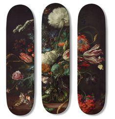 Boom Art Baroque Skate and Surf Boards Surfboard Skateboard, Skateboard Design, Skateboard Decks, Painted Skateboard, Longboard Design, Gustav Klimt, Art Surf, Skate Art, Skate Decks