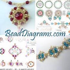 FREE beading pattern for Christmas Cascade Earrings | BeadDiagrams.com Beading Patterns Free, Seed Bead Patterns, Color Patterns, Embroidery Patterns, Knitting Patterns, Jewelry Making Tutorials, Beading Tutorials, Beaded Necklace Patterns, Lace Earrings