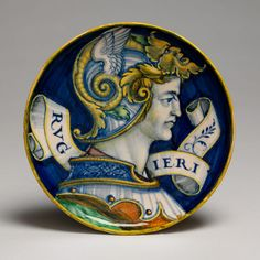 Maiolica/ The Hero Ruggiero (one of a pair)