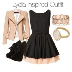 Lydia Martin Inspired Outfit Idea: The ribbon and the bow was the color of the ruffle. Lydia Martin Outfits, Lydia Martin Style, Teen Wolf Fashion, Teen Wolf Outfits, Moda Disney, Cute Dresses, Cute Outfits, Looks Teen, Character Inspired Outfits