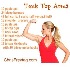 Fast and easy workouts for Tank Top Season!
