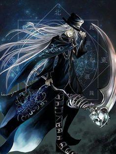 Black Butler Kuroshitsuji. Undertaker. Fan art by はまのや