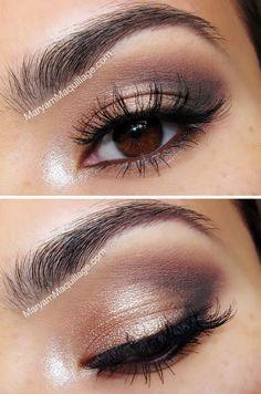 Daytime Natural Smokey eye using Urban Decay Naked 2 Palette - great for brown eyed girls.