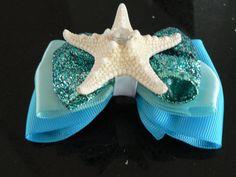 The Little Mermaid Hair Bow on Etsy, $9.00
