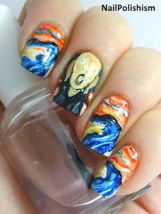 Edvand Munch 'The Scream' Nails