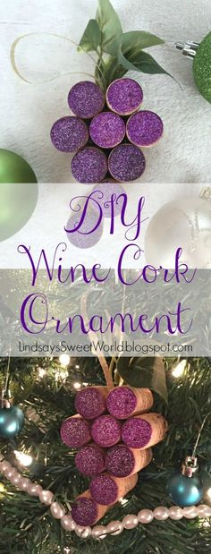 DIY Wine Cork Holiday Christmas Ornament
