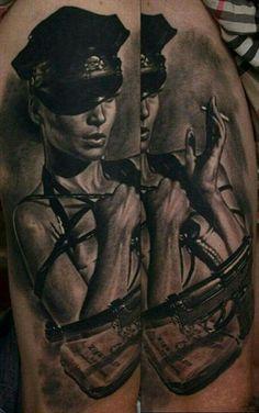 #police #policial #woman #arma #gun #sexy