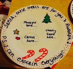 Santa plate!!