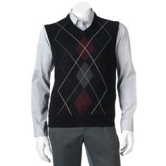 Big & Tall Dockers Classic-Fit Argyle Sweater Vest $29.99