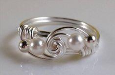 44 Gorgeous Handmade Wire Wrapped Jewelry Idea | DIY to Make #wireringsdesigns #wirewrappedringsideas