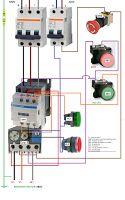 Esquemas eléctricos: maniobra motor trifasico paro emergencia y marcha ...