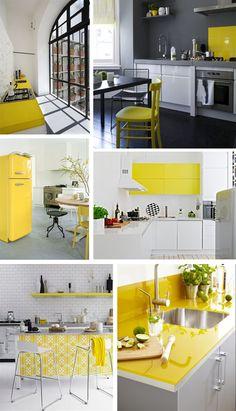 Keltaisia keittiöideoita @Asuntomessublogit