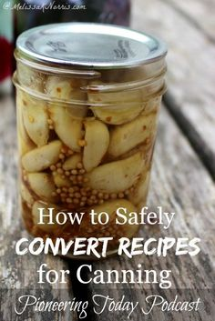 Wanted to know if a recipe was safe for canning? Learn how to safely convert your recipes for home canning, plus other canning safety tips. Home canned food is frugal and a great way to be prepared, but safety is important. Read now to make sure your reci Canning Food Preservation, Preserving Food, How To Convert A Recipe, Canning Tips, Pressure Canning Recipes, Home Canning Recipes, Jar Recipes, Pressure Cooking, Cooker Recipes