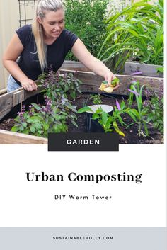Urban gardening DIY worm tower. Reduce your waste by composting your veggie scraps at home. #urbangardening #compostbin #urbanpermaculture #composting #wormtower Urban Composting, Composting 101, Gardening Hacks, Urban Gardening, Amazing Gardens, Beautiful Gardens, Homestead Gardens, Urban Homesteading, Free Plants