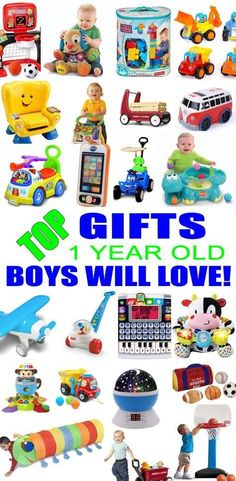 Top Gifts For 1 Year Old Boys! Cool Toys for 1 Year Old Boys -Best gift suggestions & presents for boys first birthday or Christmas. Find the best toys for a boys bday or Christmas. Shop the best boys gift ideas now! Best First Birthday Gifts, Baby Boy First Birthday, Birthday Gifts For Boys, Boy Birthday Parties, First Birthdays, Birthday Ideas, Happy Birthday, Birthday Photos, Baby Boy Toys