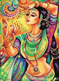 giclee: Indian classical dance art Indian decor by EvitaWorks Indian Women Painting, Indian Art Paintings, Indian Artist, Indian Artwork, Abstract Paintings, Indian Classical Dance, Dance Paintings, Oil Paintings, Madhubani Painting