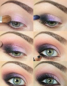 Rock this feminine pink and purple eye makeup when you're feeling flirty. Get a variety of makeup tools and products at Duane Reade!