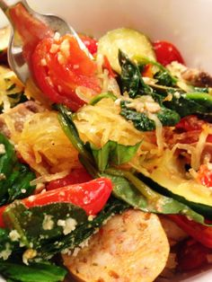 Made it- loved it! Eat Fit Not Fat- Spaghetti Squash Primavera | 2 Fat Nerds
