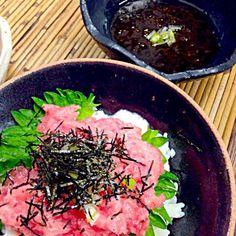 とろろも入って栄養満点(*^^*) - 29件のもぐもぐ - ネギトロ丼 by yuinori
