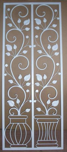 Paravan Fence Gate Design, Railing Design, Iron Front Door, Iron Doors, Indian Home Decor, Diy Home Decor, Cnc Cutting Design, Window Bars, Window Grill Design