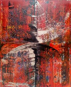 Robert Martin Abstracts. Sever 39x47x1.5in Bali collection #9 acrylic on canvas by Canadian abstract artist Robert Martin.