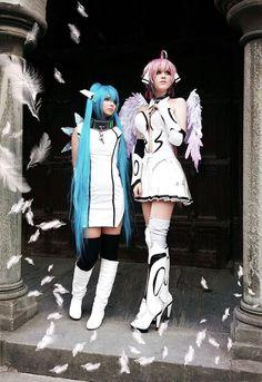 Nymph and Ikaros Sora no Otoshimono Cosplay by mercaspro.deviantart.com on @deviantART
