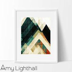 modernen Mitte Jahrhundert Kunst für Zuhause von AmyLighthall