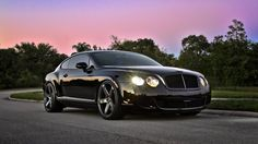 Black Bentley Continental GT