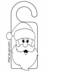 FREE Printable Christmas Door Knob Hangers Christmas Printables - Free printable door knob hanger template