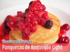 Receita de Panquecas de Requeijão Light #receita #dieta #emagrecer #fitness