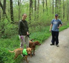 Some people might not know just how fantastic our fosters are! Here's a pic of Megan and David, longtime League volunteers and fosters, visiting the Cincinnati Nature Center this past week as an outing for their current foster, Lance (in the vest), along with their adopted League Alumni Dog, Kaidie. We really appreciate everything our foster families do to make for a stimulating and loving temporary home for our animals!