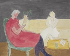 Milton Avery (1895-1965) made magic with elemental shapes and subtle colors. Morning Talk, 1963.