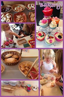 Bakery role-play- lots of great ideas including home made salt dough food!