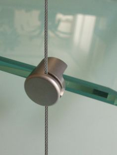 Cable Display System - Single & Double Supports for Glass Shelf Suspension