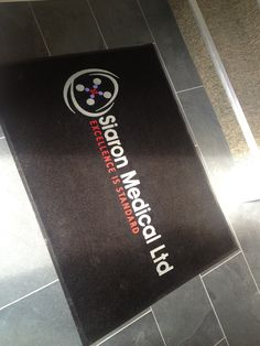 Flocked Olefin Welcome Mat produced for Siaron Medical Ltd. by FASTSIGNS Vancouver.  www.fastsigns.com/653 #fastsigns Wayfinding Signs, Site Sign, Monument Signs, Fast Signs, Channel Letters, Welcome Mats, Vancouver, Medical, Business