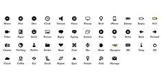 Pure CSS icon set