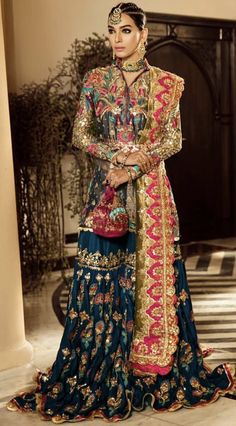 Global market Leader in Ethnic World, we serve End 2 End Customizable Indian Dreams That Reflect with Amazing Handwork & Unique Zardosi Art by Expert Workers Worldwide . New Bridal Dresses, Fancy Wedding Dresses, Party Wear Dresses, Bridal Outfits, Pakistani Formal Dresses, Pakistani Wedding Outfits, Pakistani Dress Design, Pakistani Wedding Dresses, Dress Indian Style