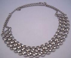"""#NEW #925Sterling #925Silver #925SterlingSilver #Sterling #Silver #SterlingSilver & #Rhodium #RhodiumPlate #RhodiumPlated #Bib #Necklace #BibNecklace 25.7g 17"""" NWOT! #Jewelry #Jewellery"""